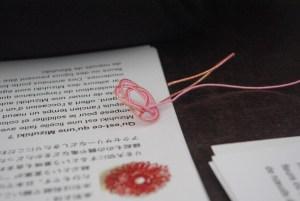 Mizuhiki bookmark
